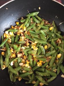 Beans almond salad