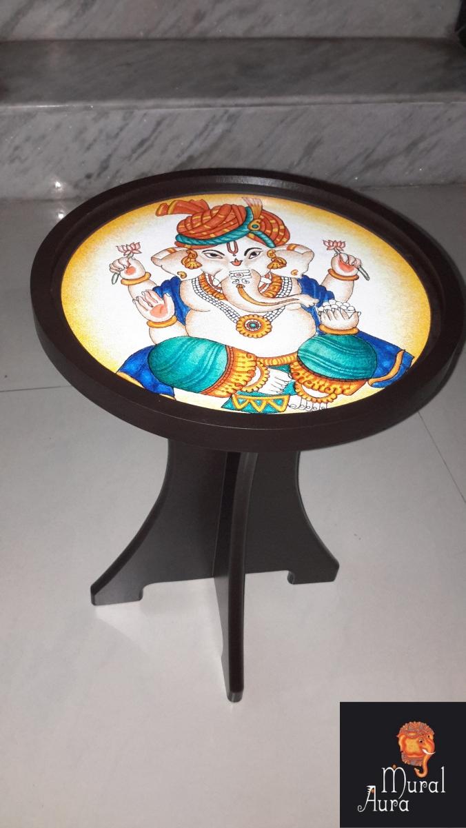 Mural Aura buddy stool Ganesha
