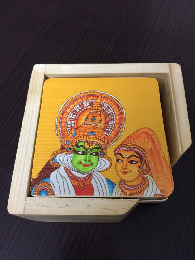 Mural Aura coasters  Kathakali faces