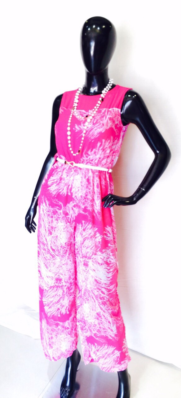 Pink flourish Jumpsuit