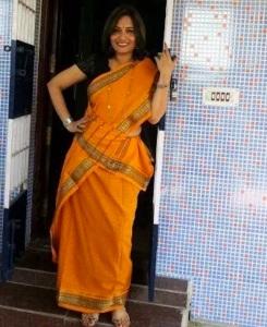 Traditional saree Orange