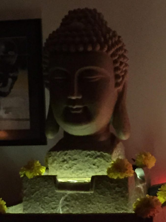 Buddha and marigold