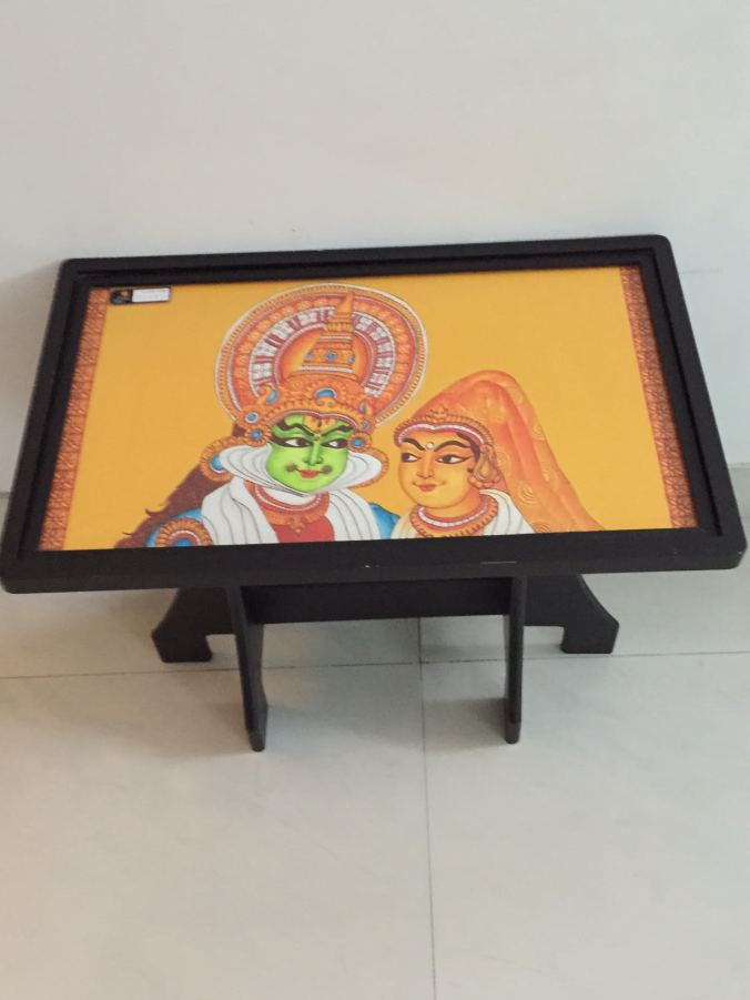 Mural Aura foyer table Kathakali