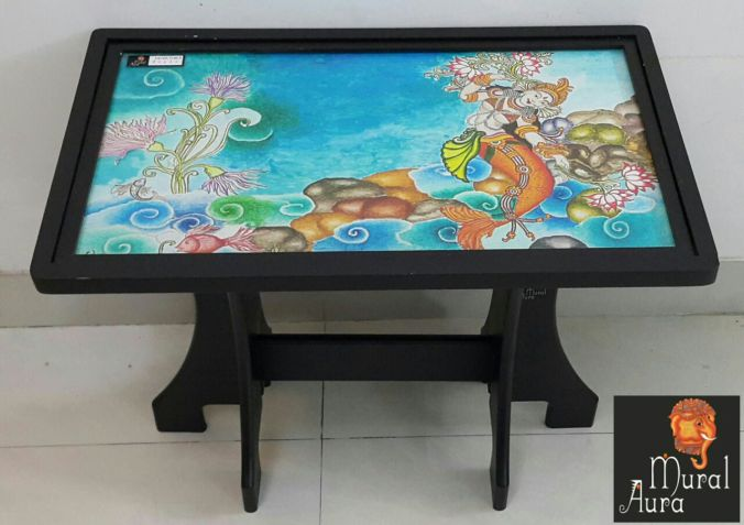 Mural Aura Foyer table mermaid