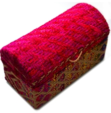 Recycled cloth and coir trunk from the sandalwood room