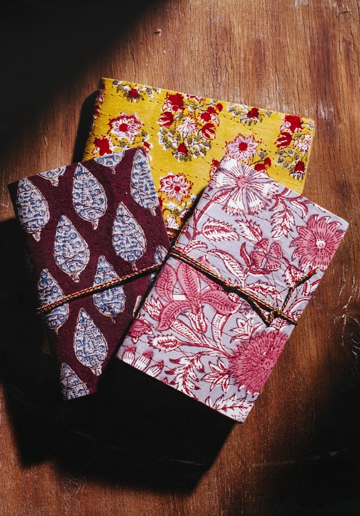 handstitched note books anokhi the sandalwood room