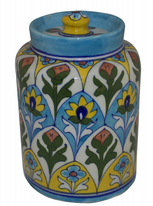 ceramic jar blue, the sandalwood room