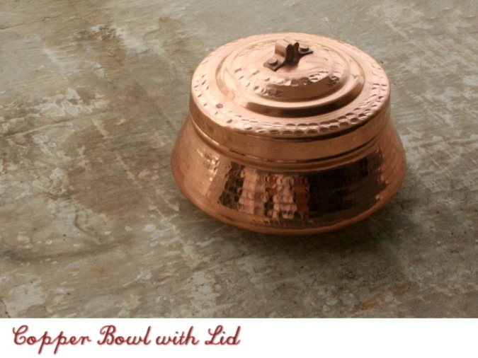 The Sandalwood Room, copper bowl with lid