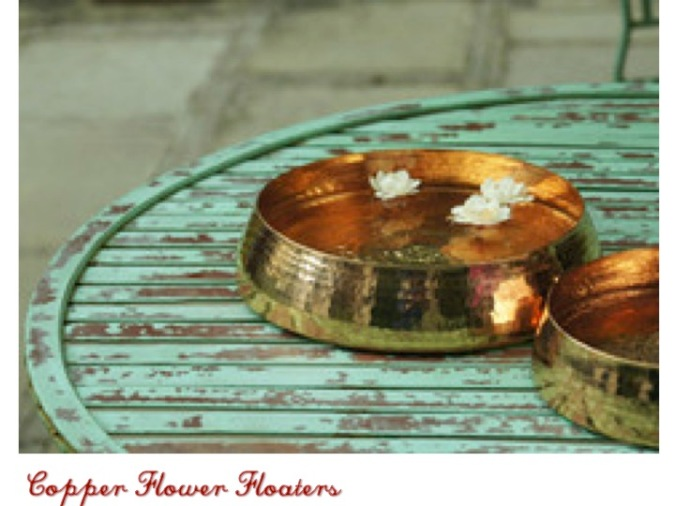 copper flower floaters Sandalwood Room