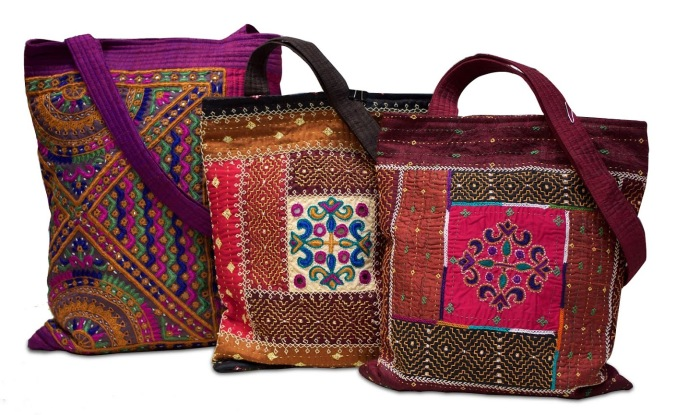 handembroidered silk sling bags, the sandalwood room