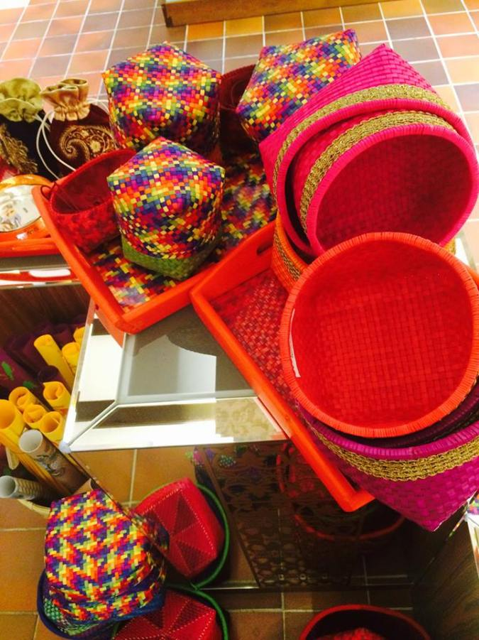 handwoven  baskets boxes trays palmyra leaf  the sandalwood room