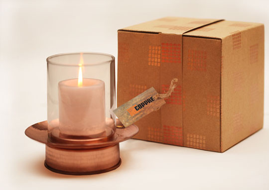 The Sandalwood Room, Hurricane lamp with carton