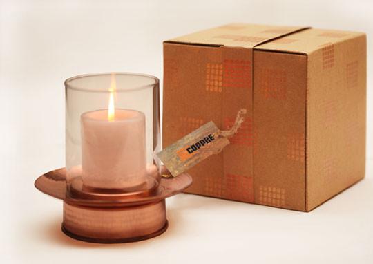 The Sandalwood Room, Hurricane lamp with carton