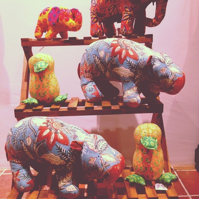 Stuffed toys, handcrafted, the sandalwood room
