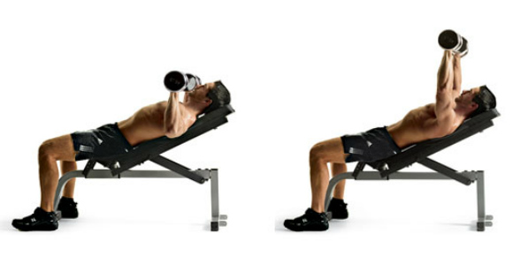 Incline Bench Press with Dumbbells