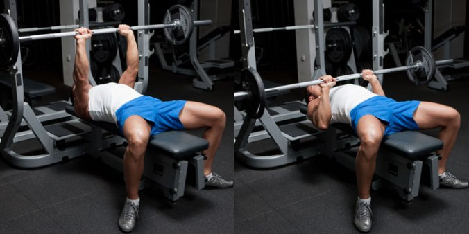 Flat Bench Press with barbell