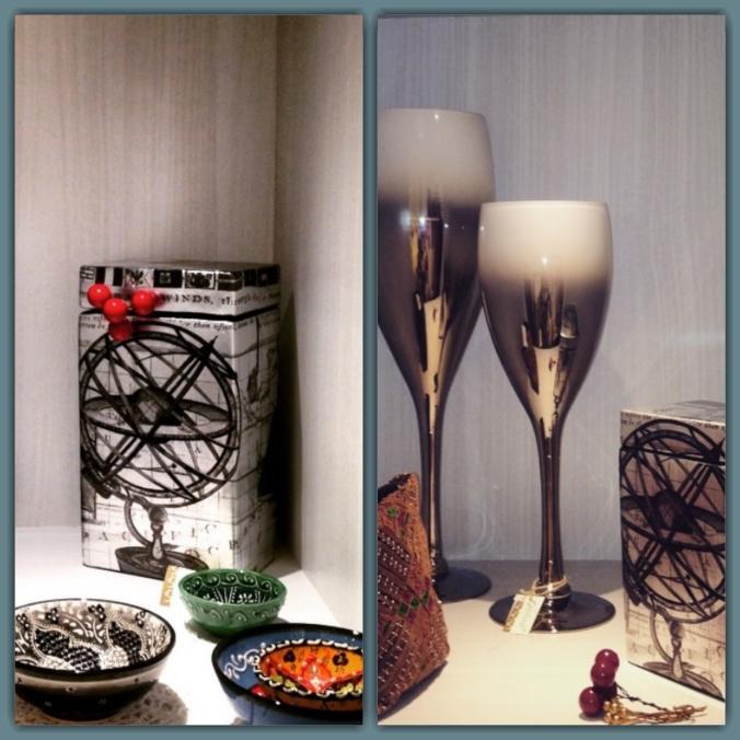decorative goblets ceramic jar and bowls