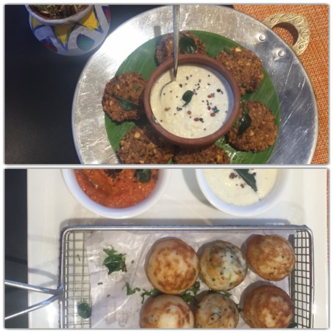 Vazhai poo vadas , variety Paniyaram platter, colony, the raintree