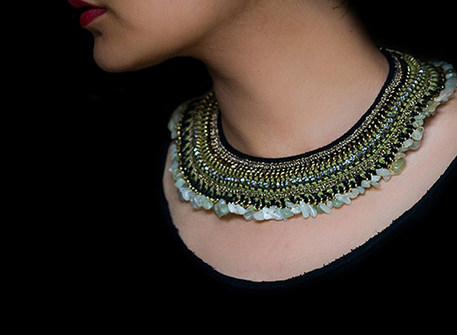 Exquisite handmade necklace from Mayabazar, The Sandalwood Room
