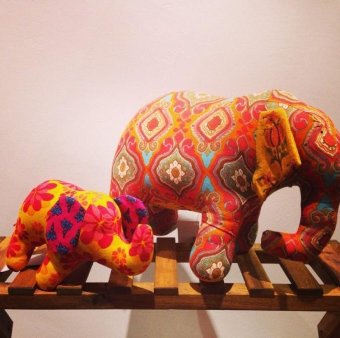 stuffed mother baby elephants the sandalwood room