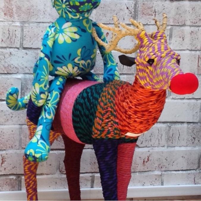 stuffed toys reindeer and monkey the sandalwood room