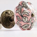 pink ceramic decorative door knob from chic room look book , the sandalwood room