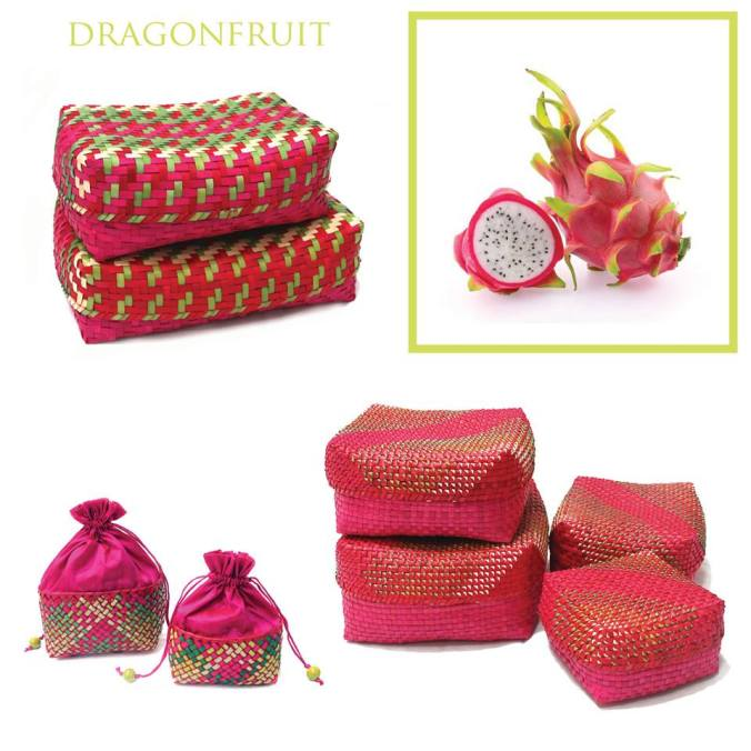 palm leaf fruit basket dragon fruit, the sandalwood room