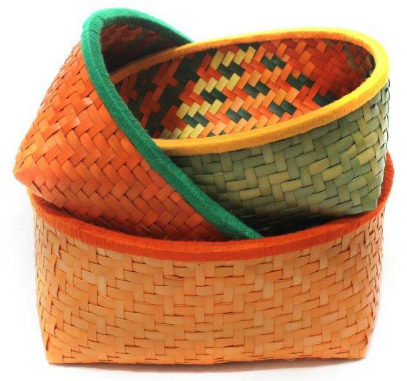 palm baskets oval kottans handmade and multipurpose, the sandalwood room