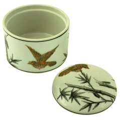 ceramic decorative round box