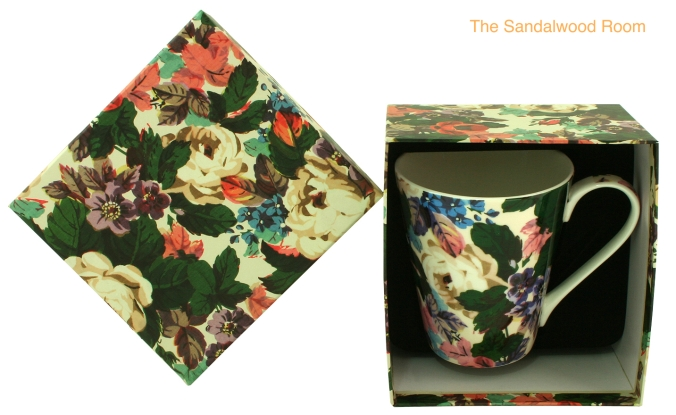 ceramic cup with box, the sandalwood room