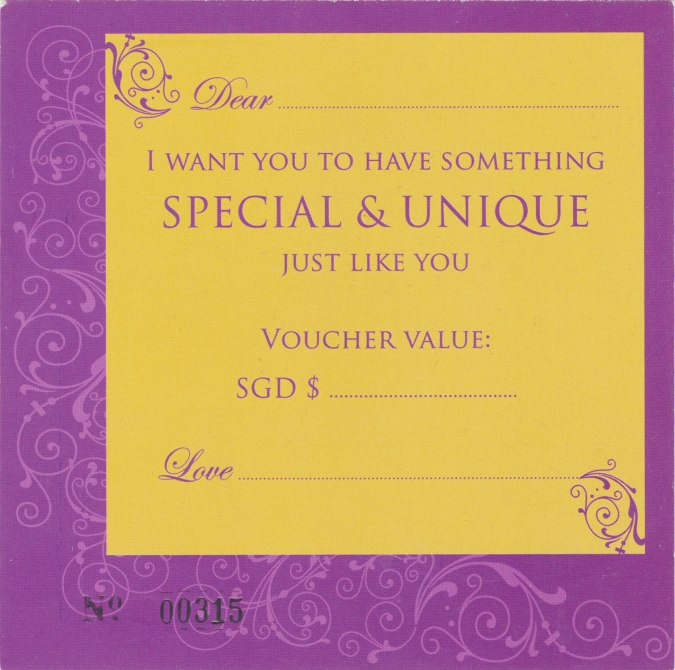 gift voucher, the sandalwood room
