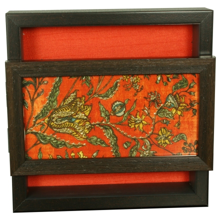 decorative tissue box with openable lid and zardosi emnroidery, the sandalwood room