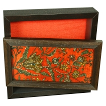 decorative tissue box with openable lid and zardosi embroidery, the sandalwood room
