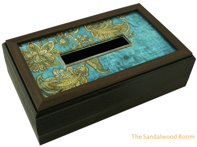 decorative tissue box with zardosi embroidery, the sandalwood room