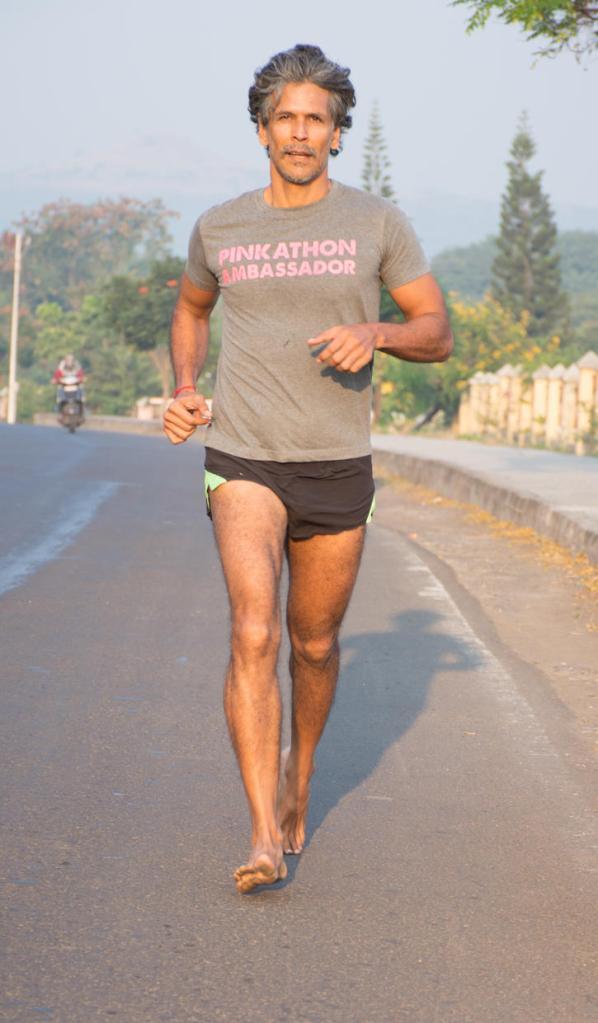 Milind Soman the Pinkathon ambassador