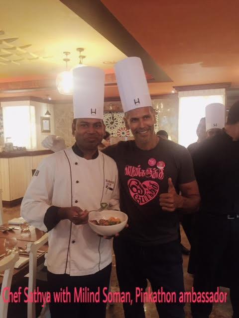 Chef Sathya and Milind Soman at Hablis Hotels