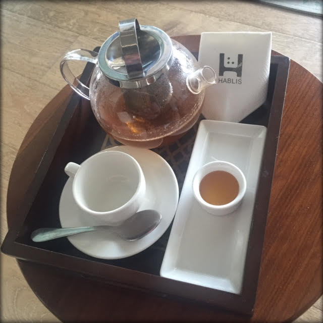 herbal tea elixir at hablis spa