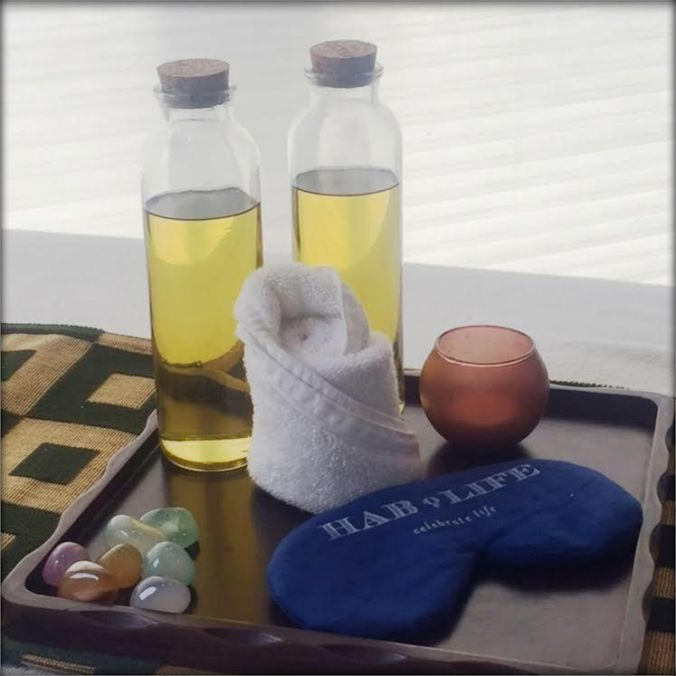preblended massage oils at Hablis Spa