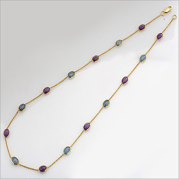 amethyst and aquamarine necklace, the sandalwood room