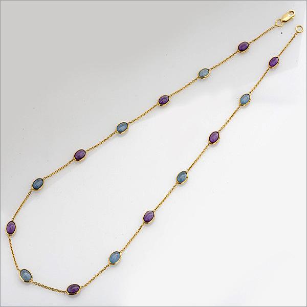 amethyst and aquamarine necklace, the sandalwood room