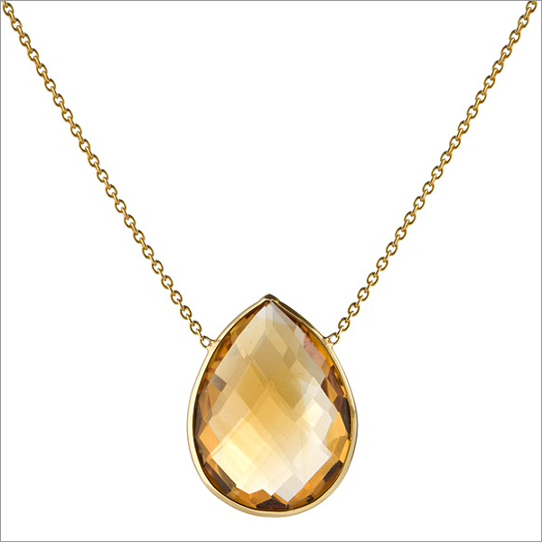 citrine pendant and necklace, the sandalwood room