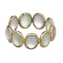 Moonstone ring in a no-claw setting