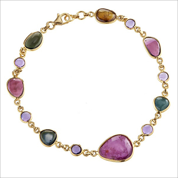 multi coloured tourmaline bracelet