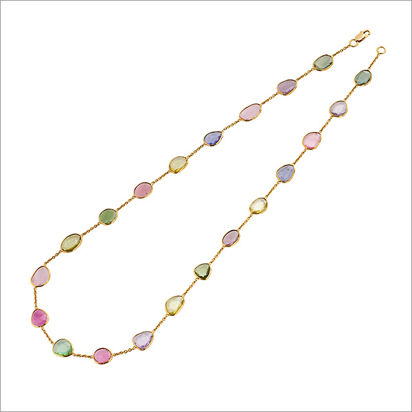 multi coloured tourmaline necklace, the sandalwood room