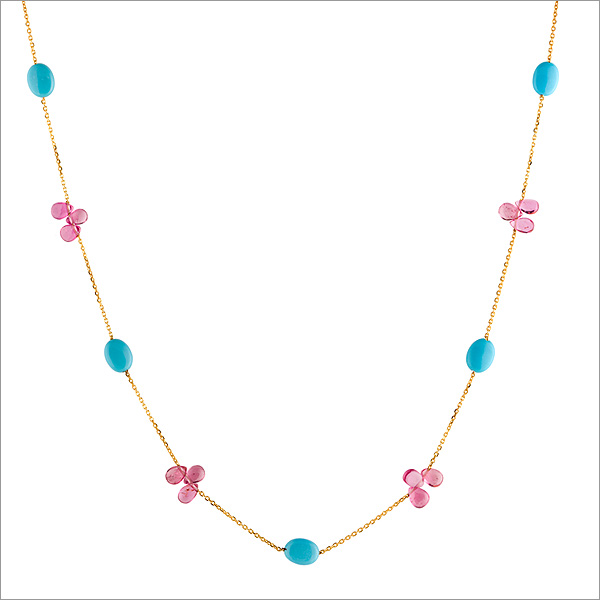 tourmaline and turquoise necklace, the sandalwood room