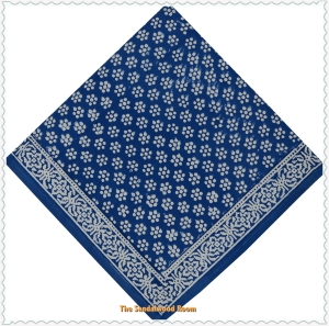 Handmade blockprinted Anokhi dinner napkins with organic dyes