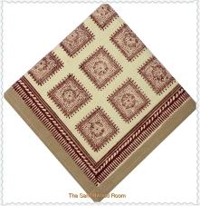 Handmade blockprinted Anokhi dinner napkins with organic dyes
