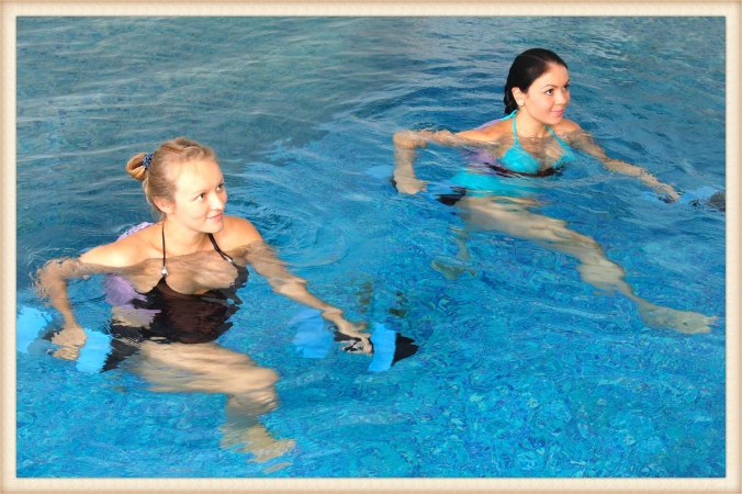 Weight resistance hydrotherapy exercises