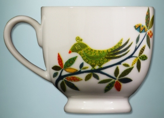 Ishika cup with garden theme