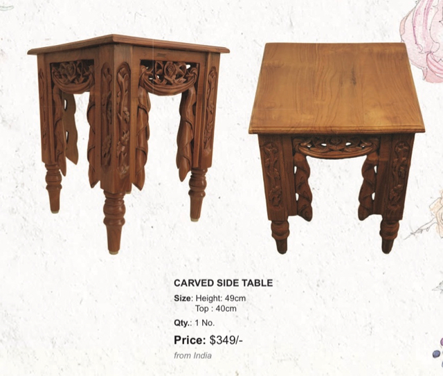 carved side table, thesandalwoodroom